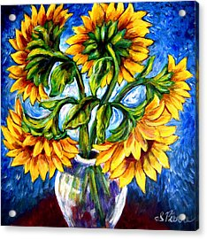Big Sunflowers Acrylic Print