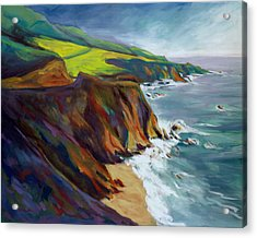 Acrylic Print featuring the painting Big Sur 1 by Konnie Kim