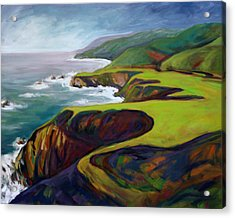 Acrylic Print featuring the painting Big Sur 2 by Konnie Kim