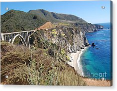 Acrylic Print featuring the photograph Big Sur Bixby Bridge And Beach by Debra Thompson