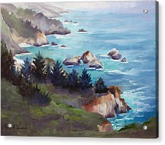 Big Sur In The Mist Acrylic Print