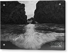 Big Sur Seascape Acrylic Print by Keith Kapple