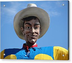 Acrylic Print featuring the photograph Big Tex by Charlie and Norma Brock