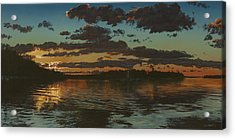Big Tub Sunset Acrylic Print by Michael Marcotte