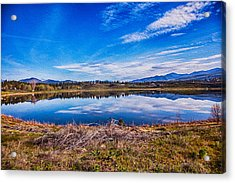Big Twin Lake Acrylic Print by Omaste Witkowski