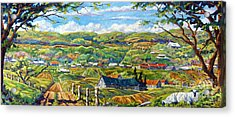 Big Valley By Prankearts Acrylic Print by Richard T Pranke