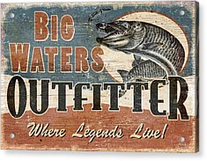 Big Waters Outfitters Acrylic Print by JQ Licensing