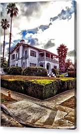 Big White House On The Corner Acrylic Print