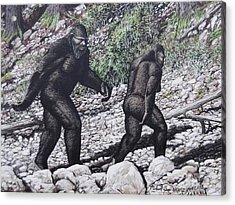 Bigfoot Couple Acrylic Print