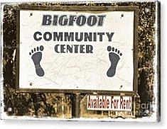 Bigfoot Evidence Acrylic Print