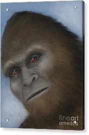 Bigfoot The Unexpected Encounter Acrylic Print by Rebekah Sisk
