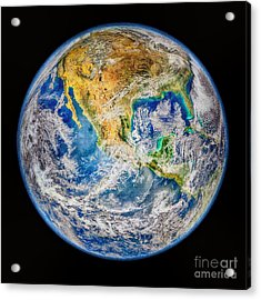 Biggest Image Of Earth Ever N. A. S. A Acrylic Print by Bob and Nadine Johnston