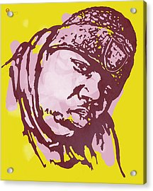 Biggie Smalls Modern Colour Etching Art  Poster Acrylic Print