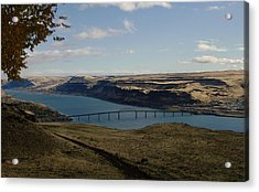 Biggs Junction On The Columbia River Acrylic Print by Jeff Swan
