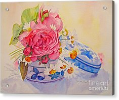 Acrylic Print featuring the painting Bijoux by Beatrice Cloake