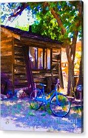 Bike At Hillside Cabin Acrylic Print