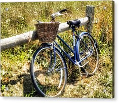 Acrylic Print featuring the photograph Bike At Nantucket Beach by Tammy Wetzel