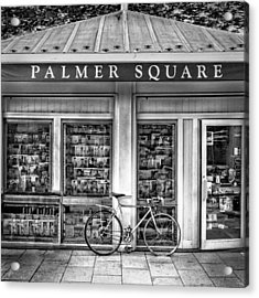 Bike At Palmer Square Book Store In Princeton Acrylic Print