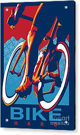 Acrylic Print featuring the painting Bike Hard by Sassan Filsoof