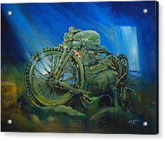 Bike In A Different Dimension Acrylic Print by Ottilia Zakany