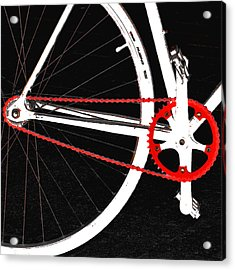Bike In Black White And Red No 2 Acrylic Print