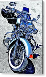 Bike In Blue For Two Acrylic Print by Ben and Raisa Gertsberg