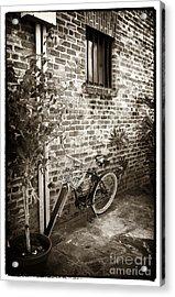 Bike In Pirates Alley Acrylic Print by John Rizzuto