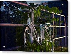 Bike Noir Acrylic Print by Laura Fasulo