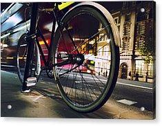 Bike On Whitehall Street Acrylic Print by Joseph S Giacalone