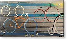 Bike Path I Acrylic Print by Vivian Mora