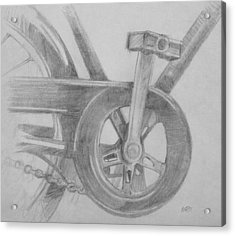 Acrylic Print featuring the drawing Bike Pedal by Michele Engling