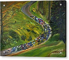 Bike Race Belgium Arden Spring Classics Acrylic Print by Gregory Allen Page