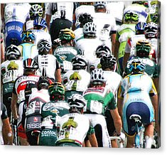 Acrylic Print featuring the photograph Bike Race Image by Christopher McKenzie