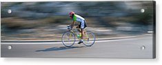Bike Racer Participating In A Bicycle Acrylic Print by Panoramic Images