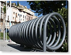 Bike Rack Acrylic Print by Farol Tomson