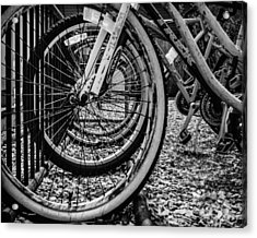 Bike Rack Acrylic Print by Steve Stanger