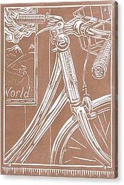 Bike Shop Window Acrylic Print by Jennifer Harper
