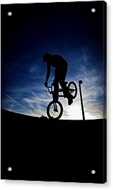 Acrylic Print featuring the photograph Bike Silhouette by Joel Loftus