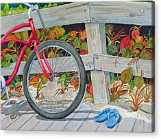 Bike To The Beach Acrylic Print