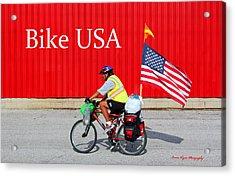 Bike Usa Acrylic Print