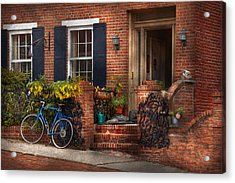 Bike - Waiting For A Ride Acrylic Print by Mike Savad