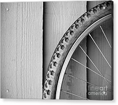 Bike Wheel Black And White Acrylic Print by Tim Hester