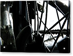 Acrylic Print featuring the photograph Bike Wheel by Joel Loftus