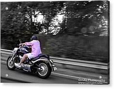 Acrylic Print featuring the photograph Biker by Gandz Photography