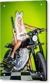 Biker Girl Acrylic Print
