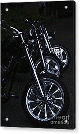 Bikes In The Night Acrylic Print