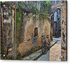 Bikes Acrylic Print by Karen Walzer