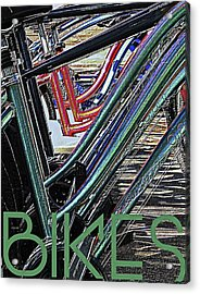 Bikes Poster -- B Acrylic Print by Brian D Meredith
