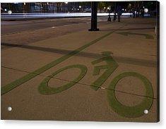 Bikes Versus Cars Acrylic Print by Lisa Marie Pane