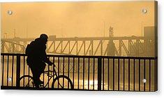 Acrylic Print featuring the photograph Biking The Bridges by Joe Winkler